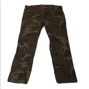 Green Brown Camouflage Jeans Pants
